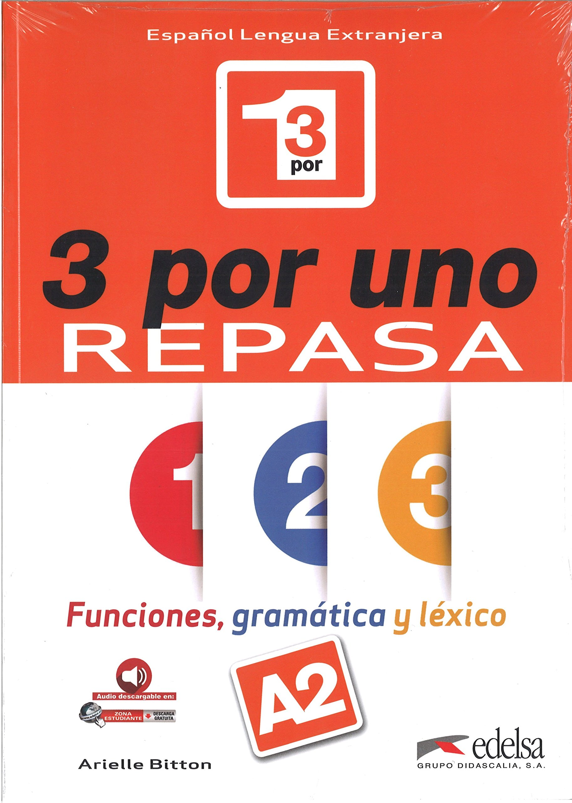 3 por uno A2, Libro del alumno + audio download